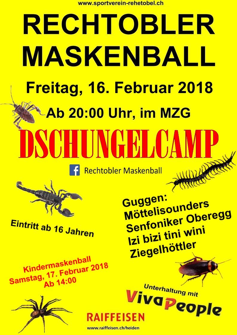 Rechtobler Maskenball, 16. Februar 2018