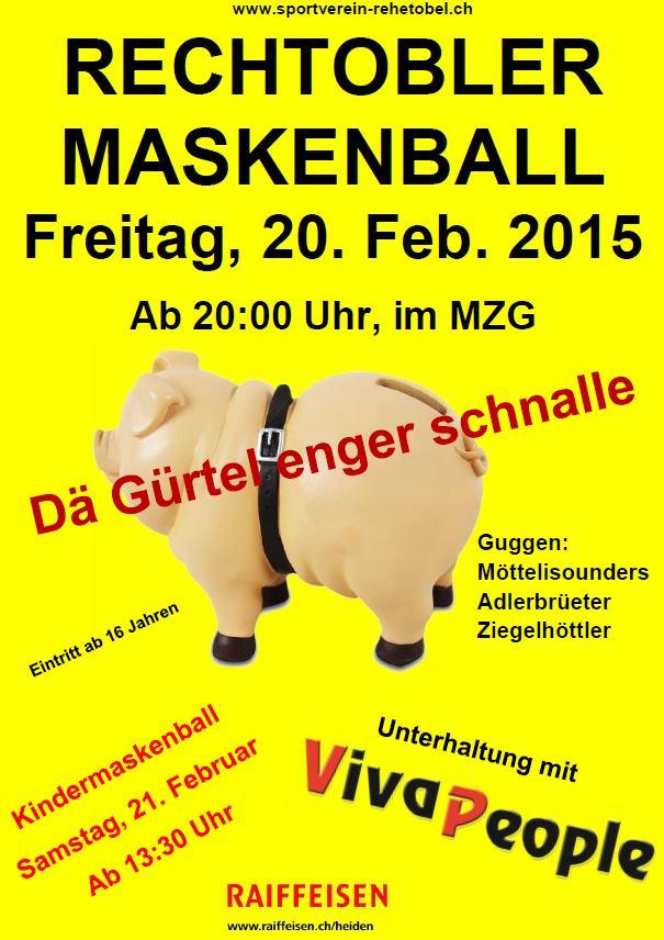 "Maskenball 2015 ""Dä Gürtel enger schnalle"""